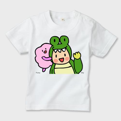 なかよしアリー&ファジー キッズTシャツ(白/デイジー)