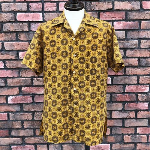 Vintage British Leisure Shirt Yellow×Brown