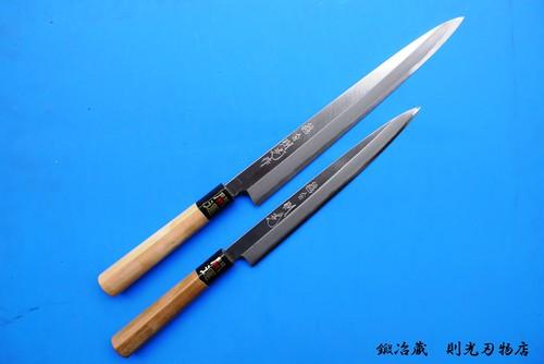 【受注生産品】柳刃包丁(刺身、片刃・両刃)
