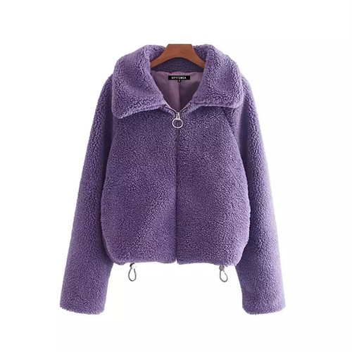 【FlamingoBeach】purple Boa  jacket ボアジャケット 60129