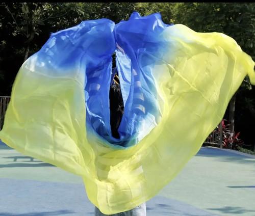 シルク 100% ベール高品質ダンスベール女性のセクシーなダンス 100% シルク