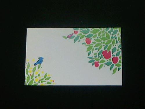 ちいさなメッセージカード「りんごの庭」