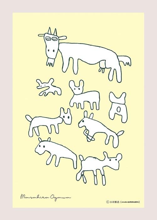 postcard-Masahiro Ogawa-牧場