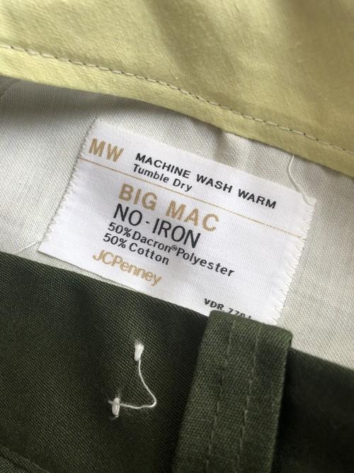 70s BigMac デッドストック ビッグマック ワークパンツ ダークグリーン