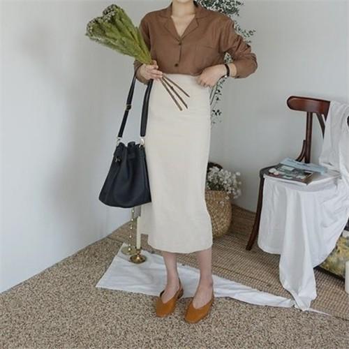 ベーシックタイトスカート L00017