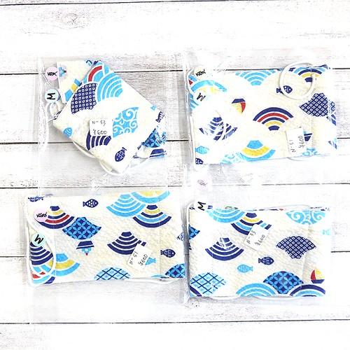 【Swan】折り返し型布マスク(波)・レディースサイズ/マスク
