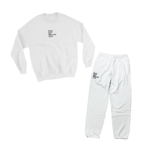 【Cat & Parfum】Don't wear like everyone does. Embroidery Logo Cotton Sweat Set Up