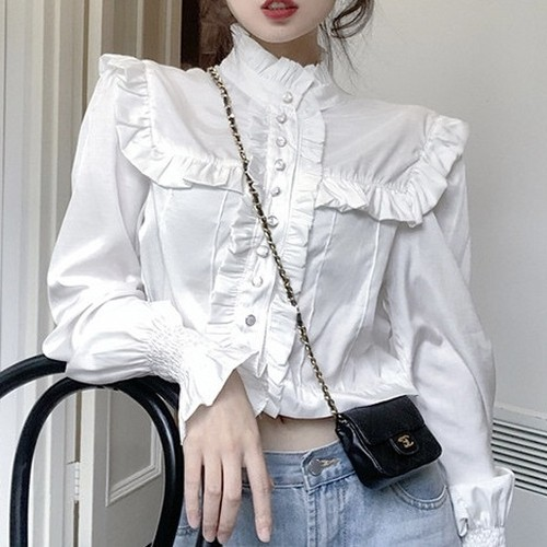 frill lined blouse 2c's