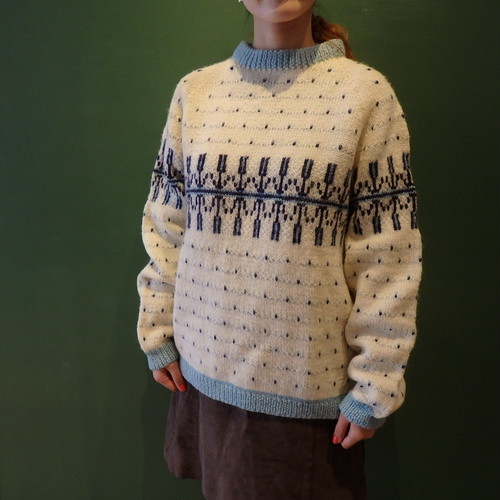 Hand-knitted Nordic Sweater