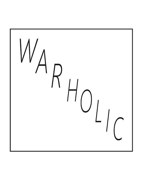 WAR HOLIC フォント ドロップドルマンショルダー Tシャツ