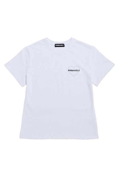 ロゴハートTシャツ/white