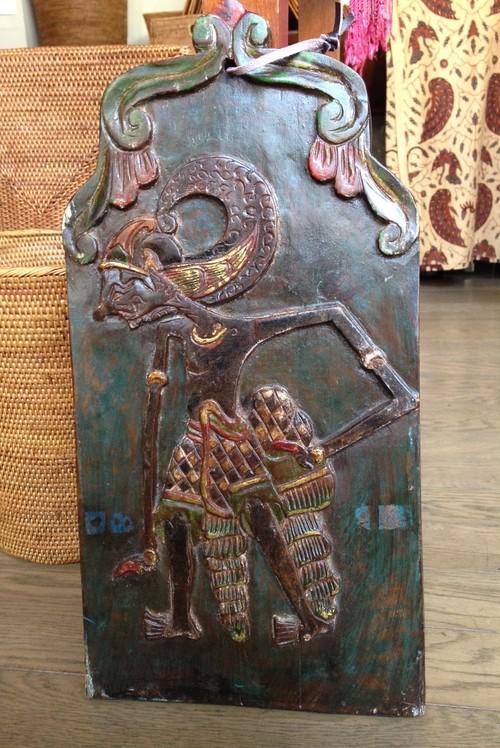 木彫り『ワヤンのパネル』 壁かけ インテリア雑貨 バリ AkiC0048