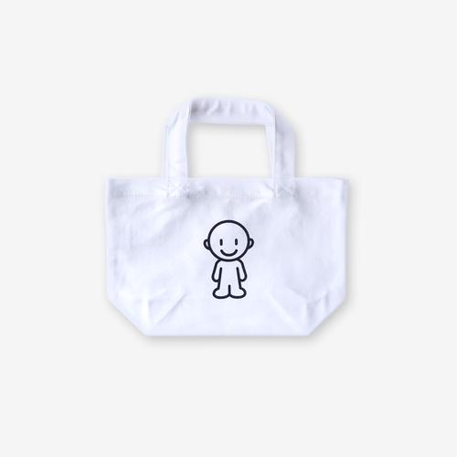IDEAS/EeQ-Aec シルクスクリーントートバッグS ホワイト