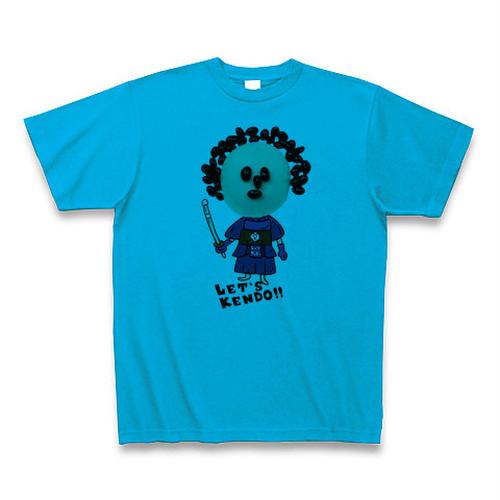 レッツケンドーマスクマン七変化Tシャツ【黒豆アフロくん】カラー/ターコイズ・サイズ:S~XL