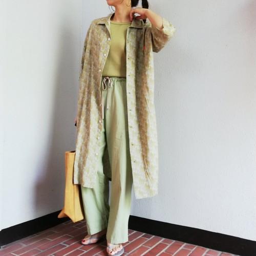 UNIVERSAL OVERALL(PAISLEY OPEN COLLAR SHIRT DRESS )