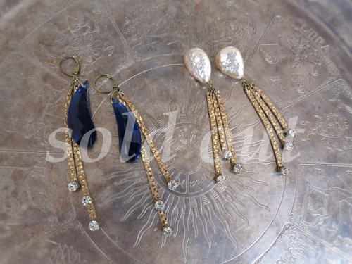 vintage pierced earrings FR <PE-FR1/2>