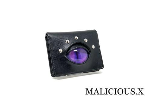 【ご予約オーダー品】cat eye  wallet / purple × pink
