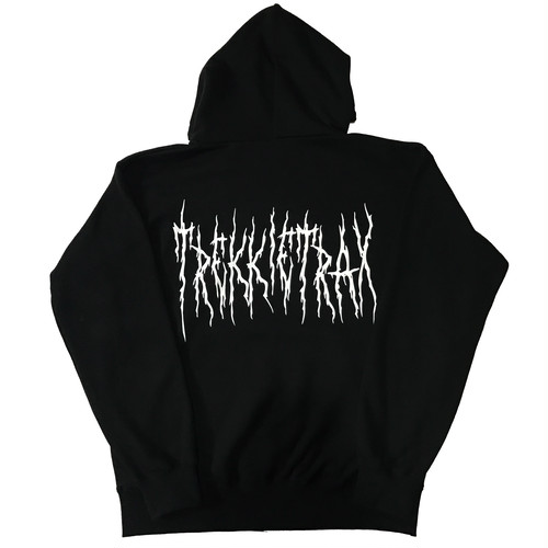Black Metal Logo Hoodie 12.4oz (Black×White)