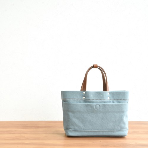 CANVAS MAGAZINE TOTE SS / ICE GRAY