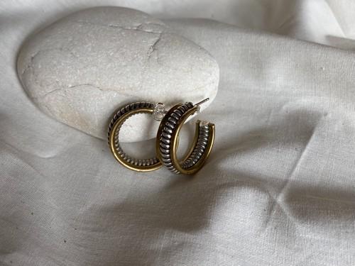 <vintage silver925>mix hoop pierce