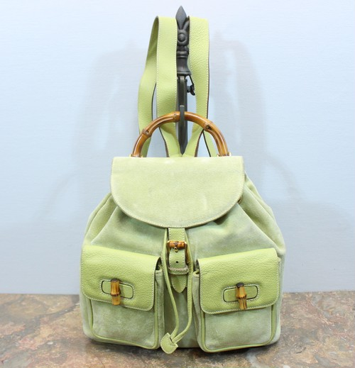 .OLD GUCCI BAMBOO LEATHER RUCK SUCK MADE IN ITALY/オールドグッチバンブーレザーリュックサック 2000000030616