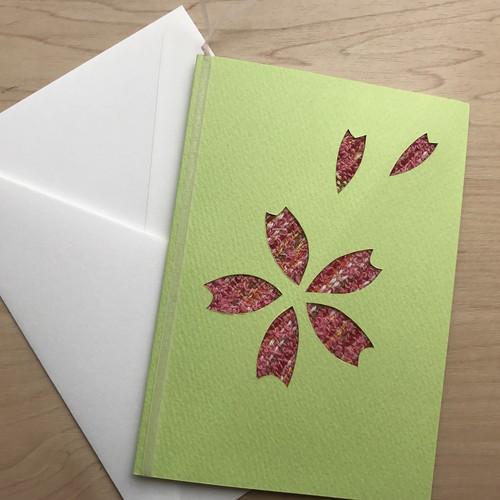 【コラボ商品】さをり織りを使った一点物グリーティングカード