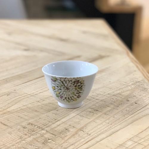 色絵菊  煎茶碗