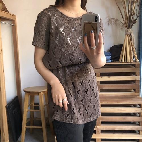 brown mesh tops