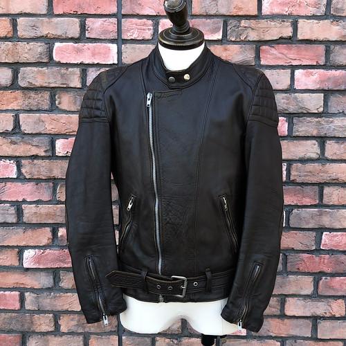 1970s European Motorcycle Leather Jacket Brown