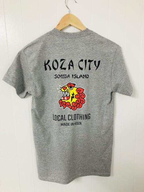 【KOZA CITY】スカ風プリントTシャツ / グレー