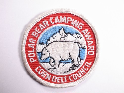 "OLD PATCH""POLAR BEAR CAMPING AWARD"""