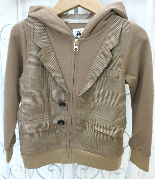 ●ジャケット風おめかしパーカー(ベージュ)☆