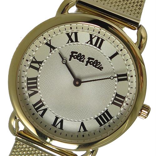 フォリフォリ FOLLI FOLLIE クオーツ レディース 腕時計 WF16G013BPZ シルバー ホワイト