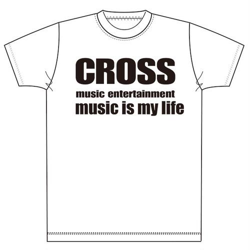 クロスミュージックオリジナルTシャツ-ホワイト