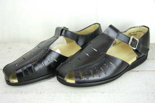 Re-Painted Czech Leather Sandals