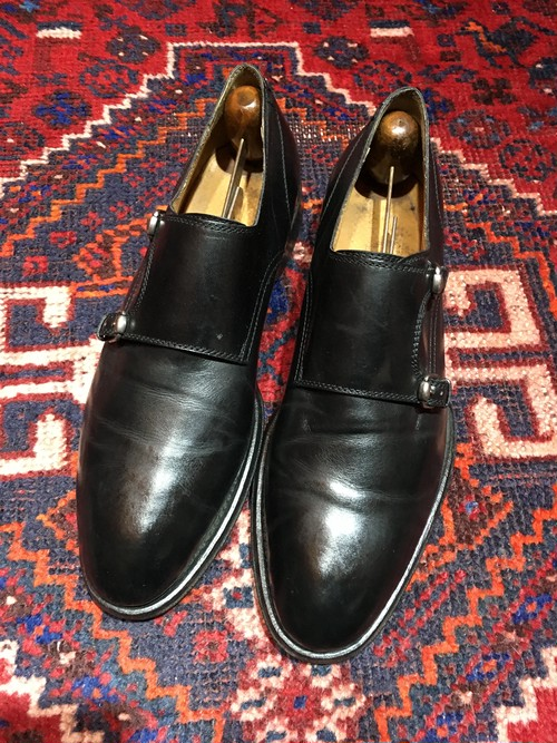 .GUCCI LEATHER DOUBLE STRAP SHOES MADE IN ITALY/グッチレザーダブルモンクストラップシューズ 2000000031903