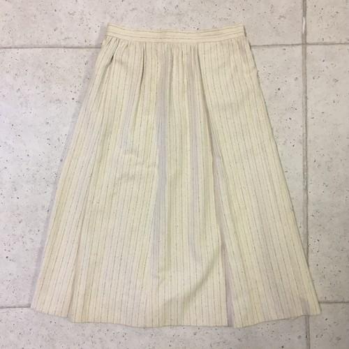 OLD Chloe ストライプ リネン混 フレアスカート size:40