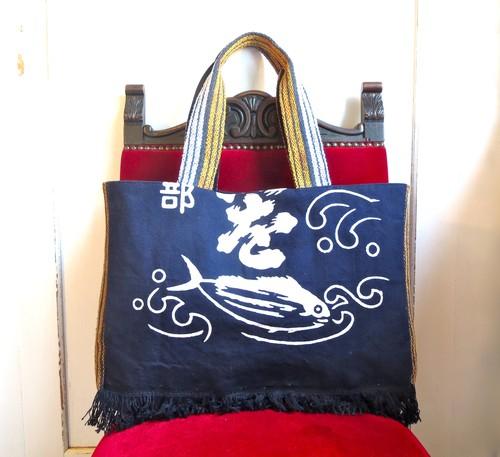 -Katsuo- ビンテージ前掛けバッグ リメイクトートバッグ