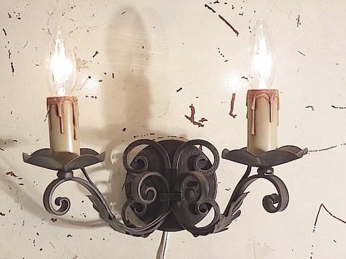 アイアンブラケット2灯(ブラック)