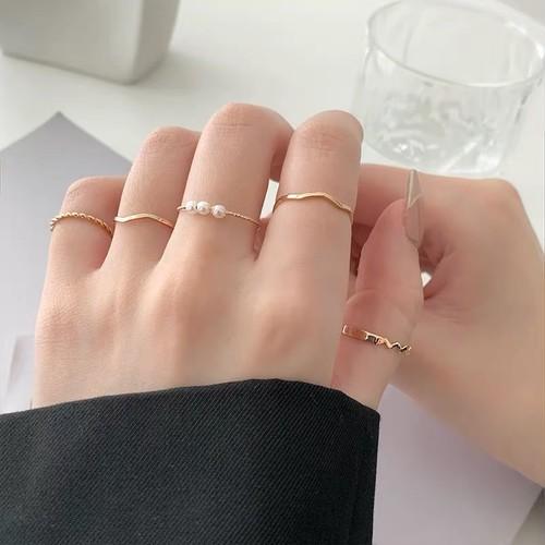 gold ring 5set
