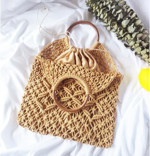 BS47 かごバッグ ネットバッグ 編みバッグ 巾着