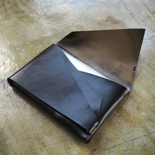 BOLERO black×silver クラッチバッグ for iPad (Sサイズ)