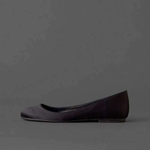 Satin / Close Toe / 1cm / BK 【3011 BK】