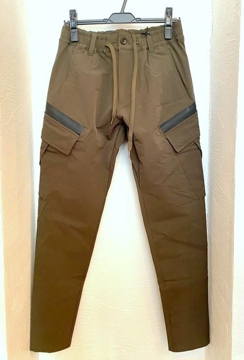 Nylon Cargo Pants Khaki