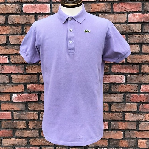 1980s Lacoste Polo Shirt Made In France Purple 46