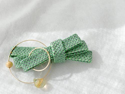 束ね熨斗の髪飾り -若草色-