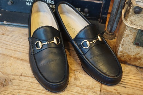 "GUCCI black horsebit Loafers 36 1/2 ""Made in ITALY"""
