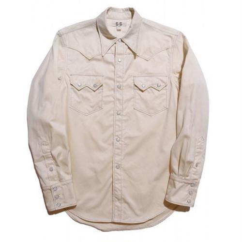 JOHN GLUCKOW Morrison Shirt アイボリー [JG41101]