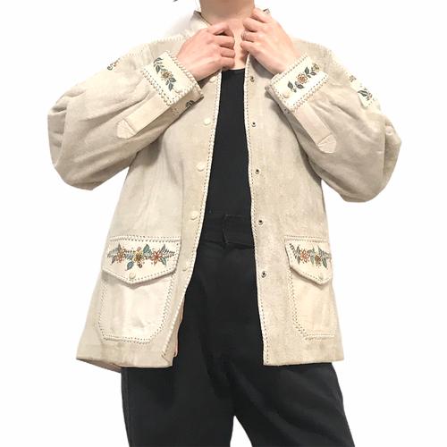 70's Char White Leather Jacket