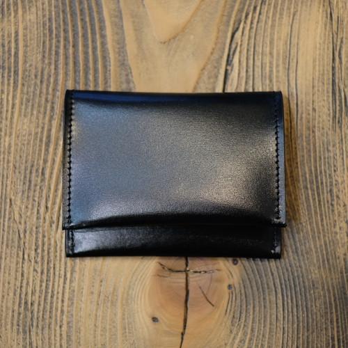 ル・ボナー 残心 小銭入れ クリスペルカーフ(内装シュランケンカーフ) ブラック